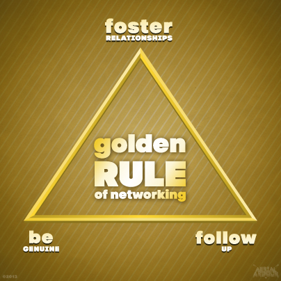 Aerial Ardour's Golden Rule of Networking