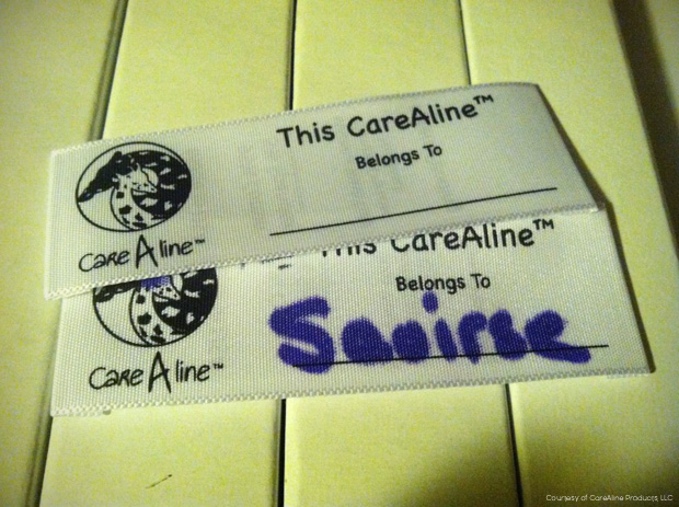 CareAline Garment Labels with logo by Aerial Ardour