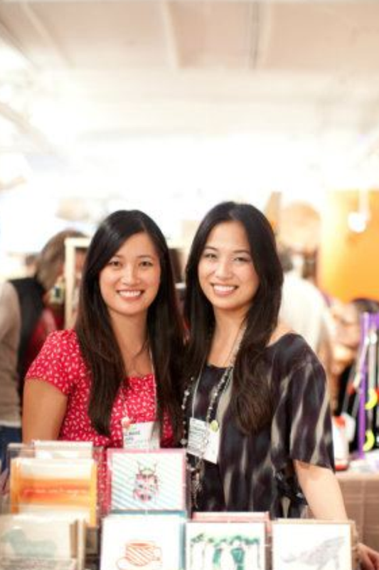 Elmarie Jara and Edmarie Marcos at the One of a Kind Show Chicago 2011. Image by Samantha Photography.