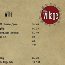The Village Menu Design